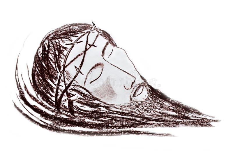 Retrato do Jesus Cristo ilustração stock
