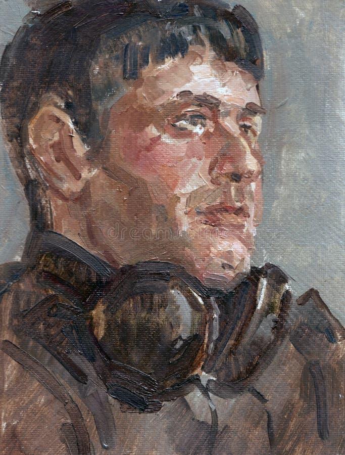 Retrato do jovem ilustração royalty free