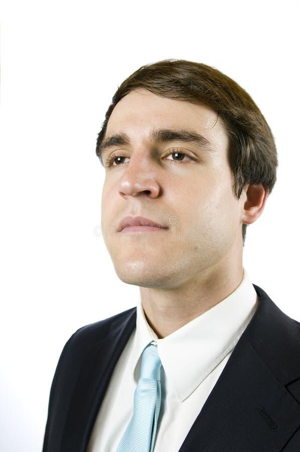 Retrato do lado do gerente imagem de stock