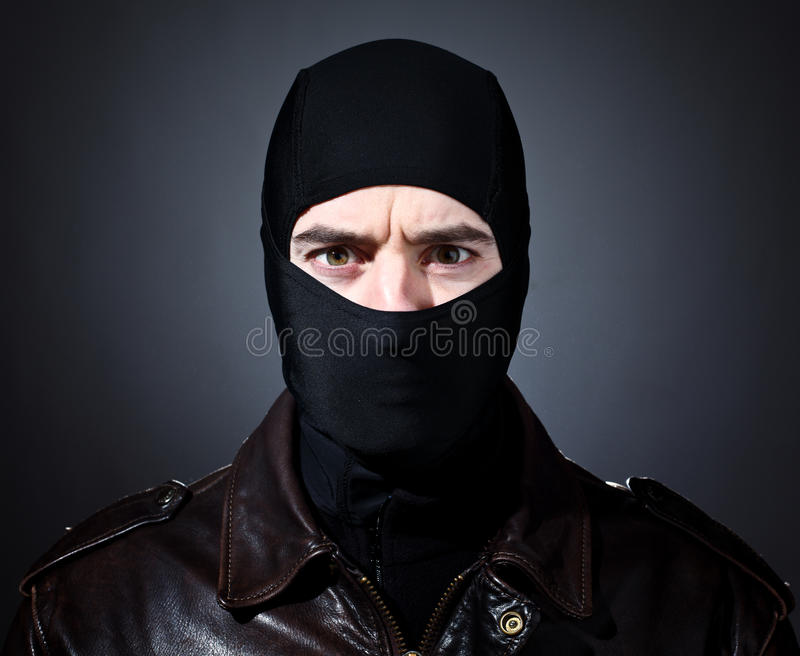 Retrato do ladrão fotografia de stock