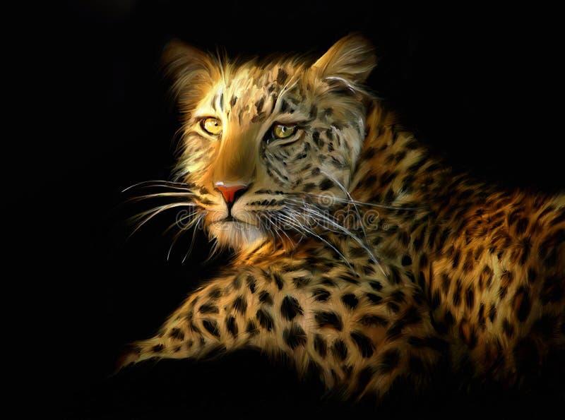 Retrato do leopardo imagem de stock