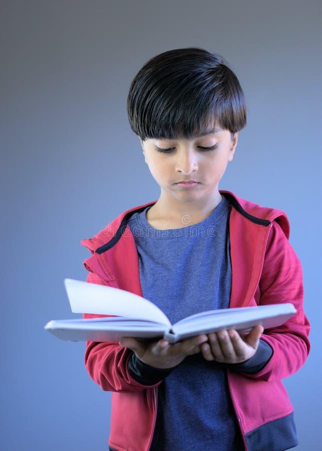 Retrato do livro de leitura da jovem criança imagem de stock royalty free