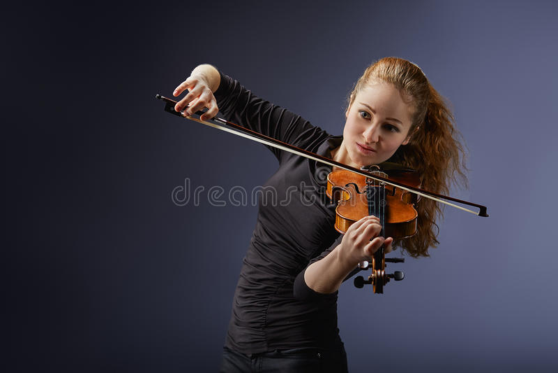 Retrato do músico fotografia de stock royalty free