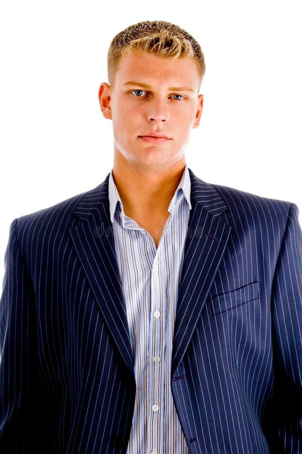 Retrato do macho caucasiano novo que olha o imagem de stock royalty free