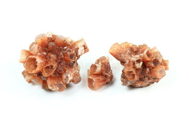 Retrato do macro dos cristais de Aragonite. imagem de stock