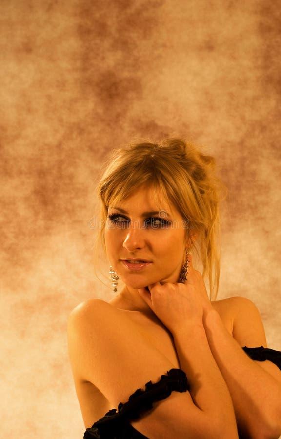 Retrato do menina-coquette charming imagem de stock royalty free