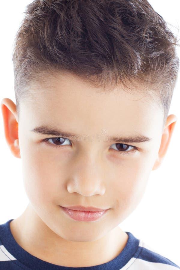 Retrato do menino à moda fotografia de stock