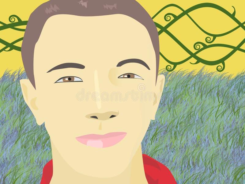 Retrato do menino ilustração do vetor