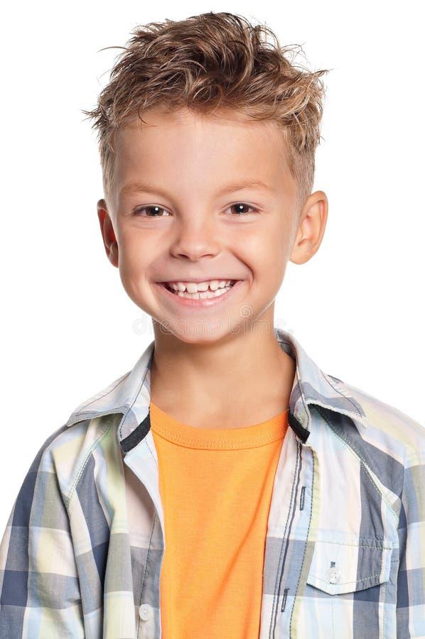 Retrato do menino fotografia de stock