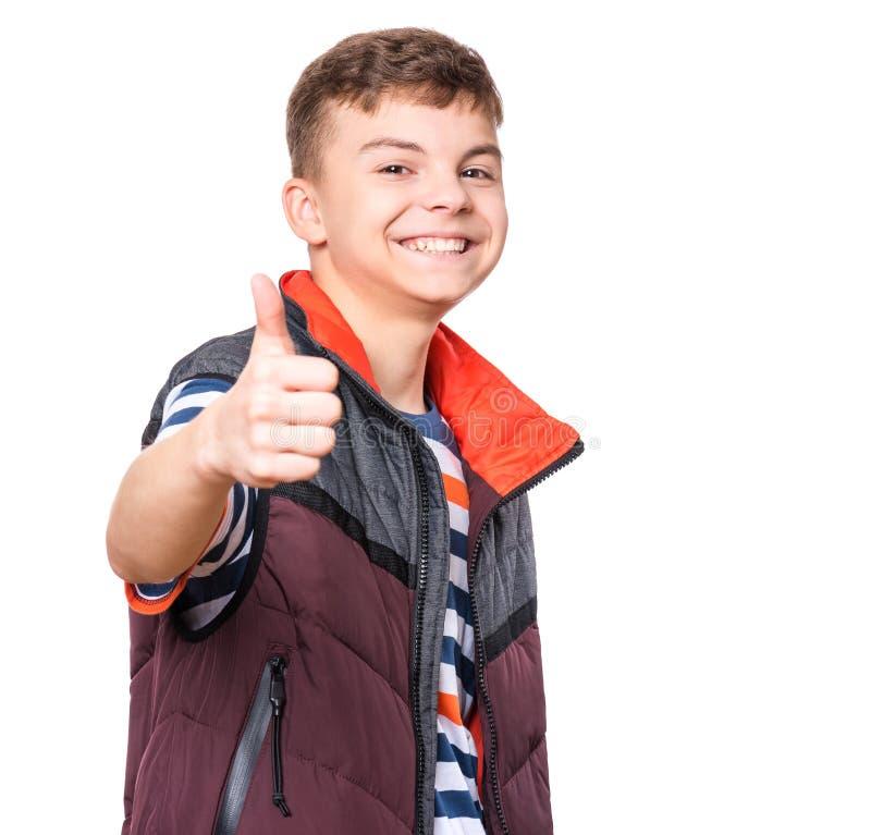 Retrato do menino adolescente imagem de stock royalty free