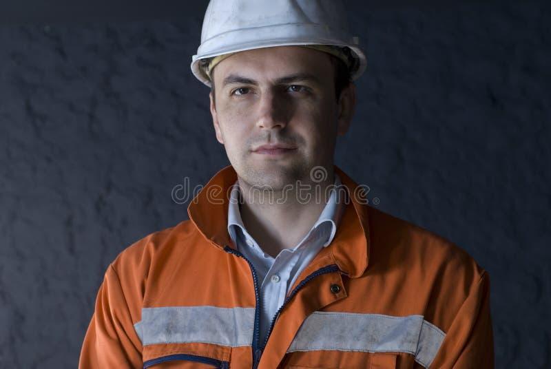 Retrato do mineiro imagens de stock