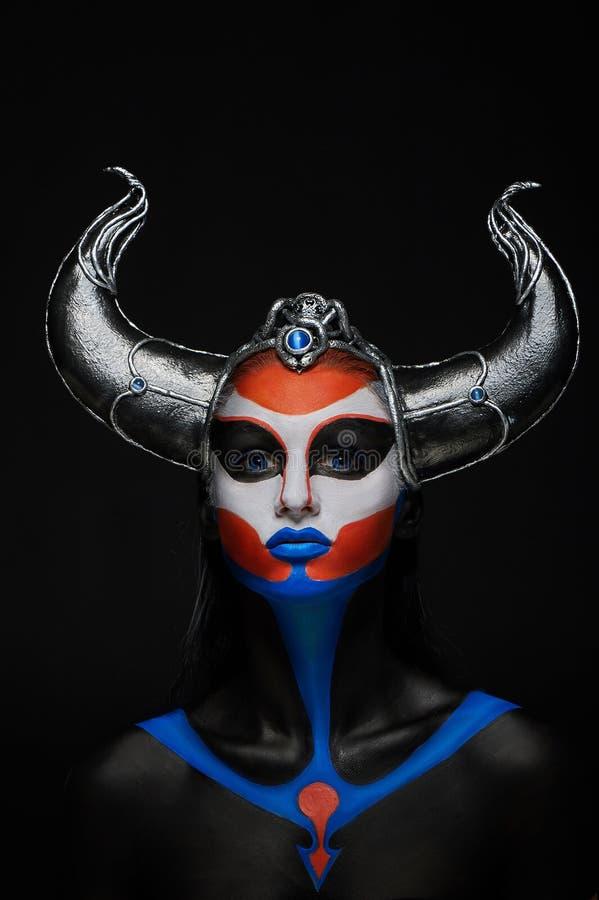 Retrato do mistério do fauno fêmea fotos de stock royalty free