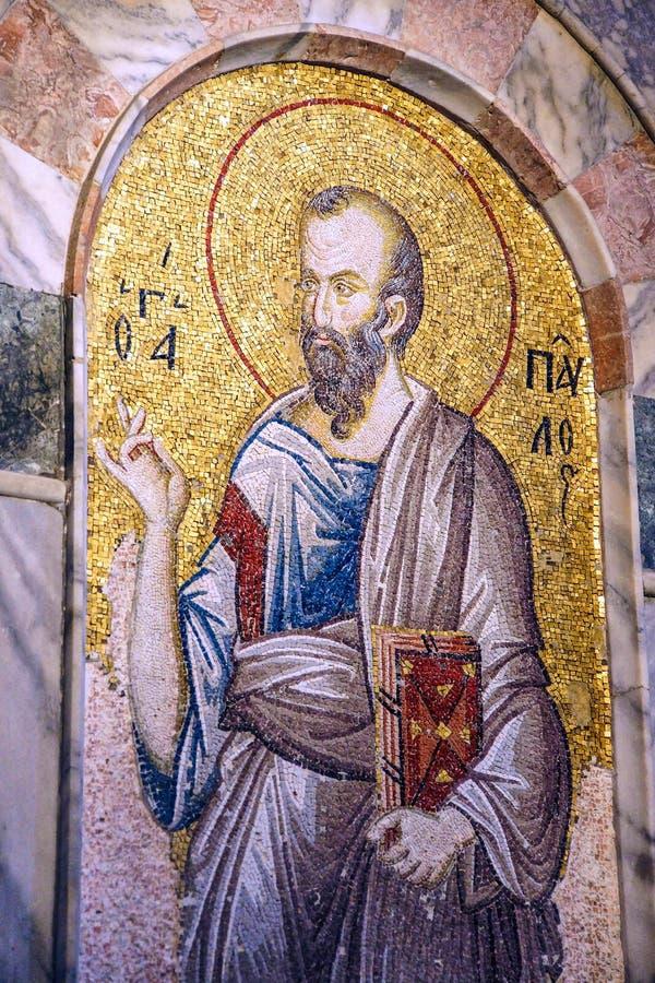 Retrato do mosaico de St Paul foto de stock