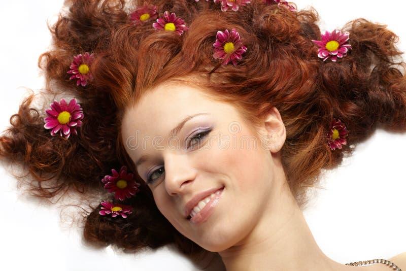 Retrato do mulheres felizes imagens de stock