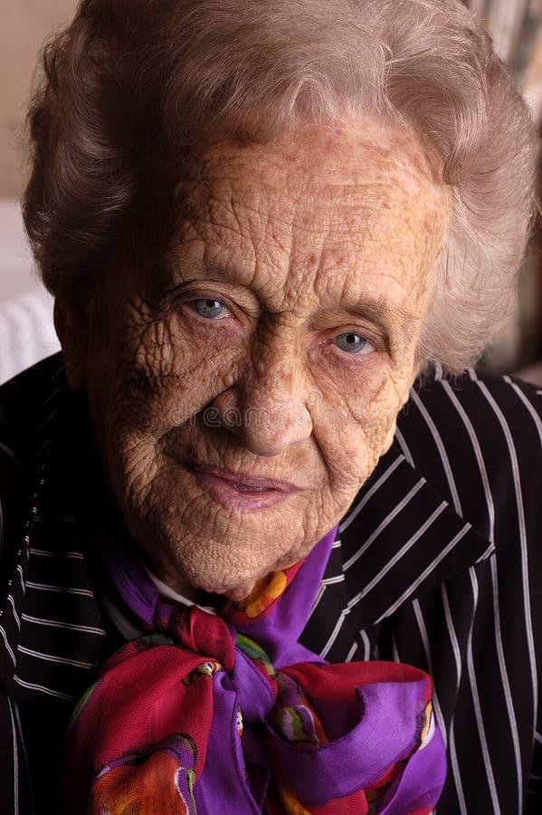 Retrato do mulheres idosas imagens de stock