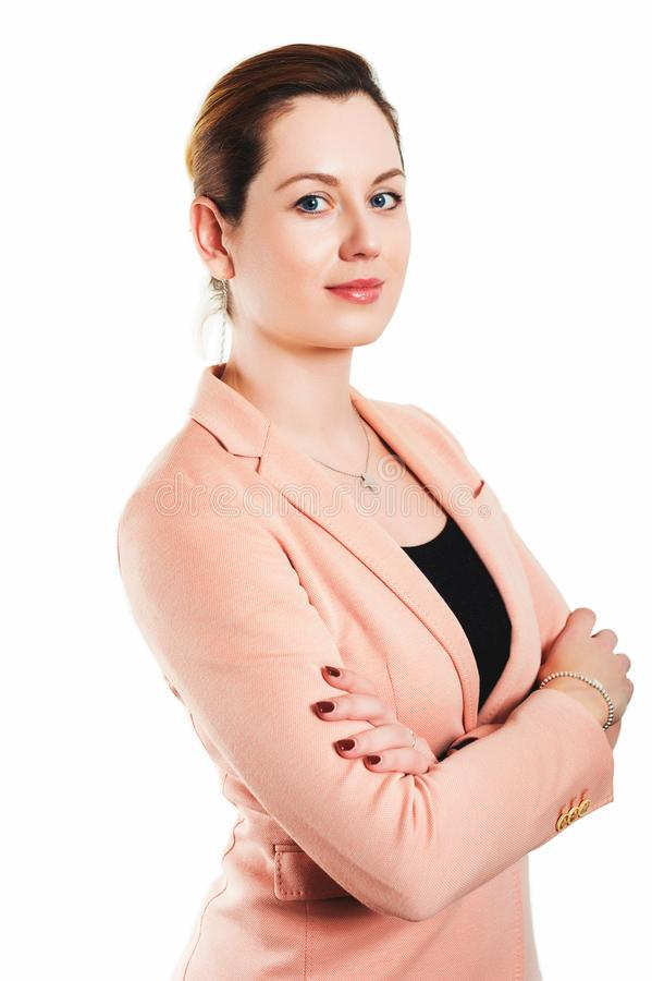 Retrato do negócio da mulher das pessoas de 35 anos foto de stock royalty free