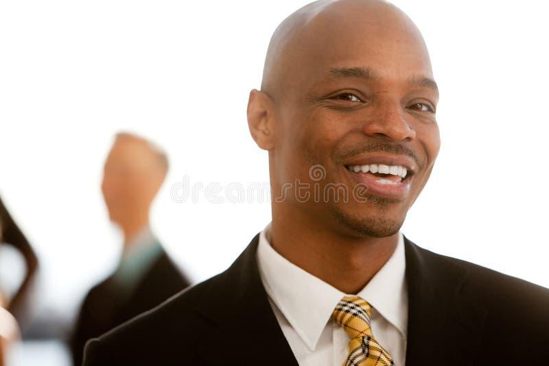 Retrato do negócio do americano africano imagem de stock