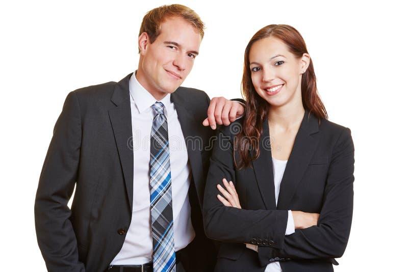 Retrato do negócio dois feliz fotografia de stock royalty free