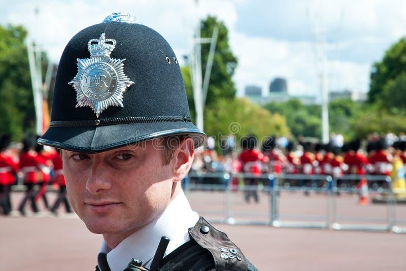 Retrato do oficial de polícia britânico fotos de stock royalty free