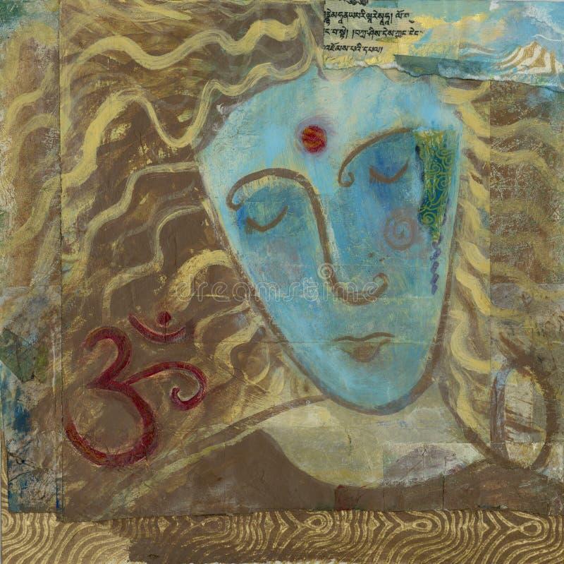 Retrato do OM ilustração do vetor