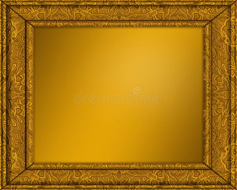 retrato do ouro ou frame da foto ilustração do vetor