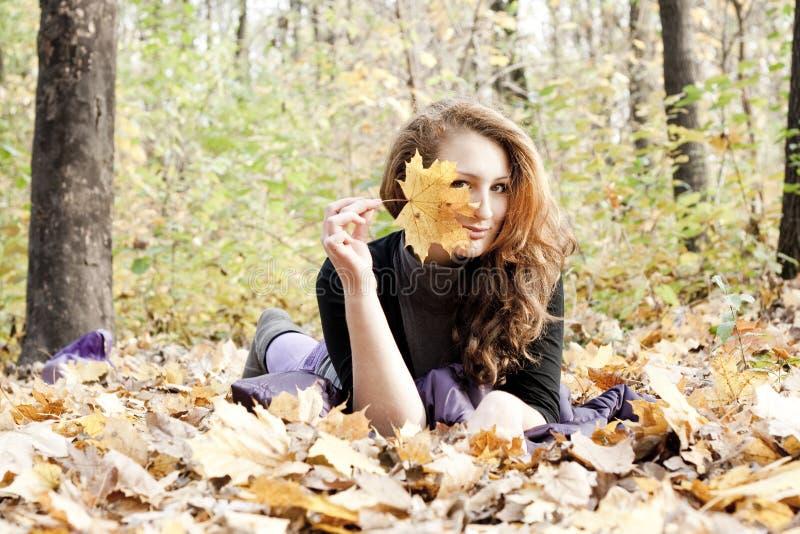 Retrato do outono fotografia de stock