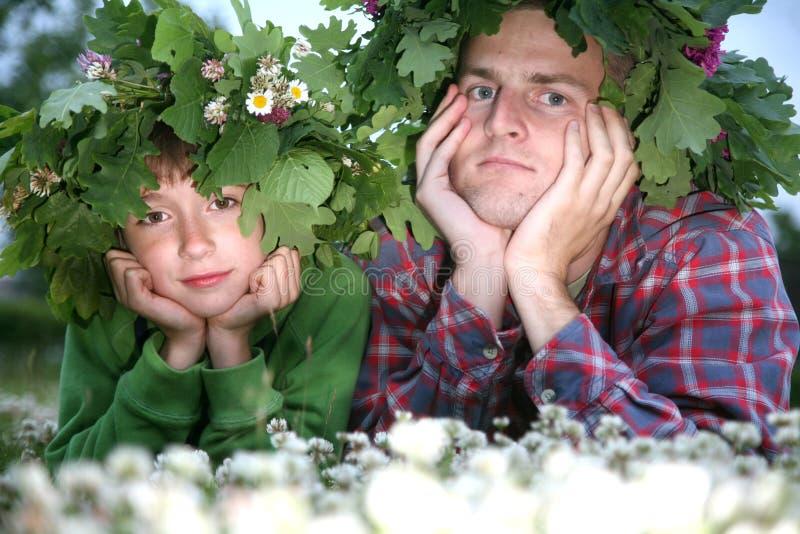 Retrato do pai e do filho fotos de stock royalty free
