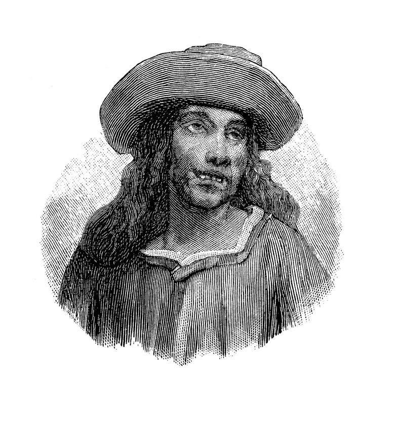 Retrato do poeta de Francesco Berni Italian ilustração do vetor