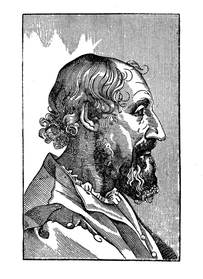 Retrato do poeta de Ludovico Ariosto Italian Renaissance ilustração stock