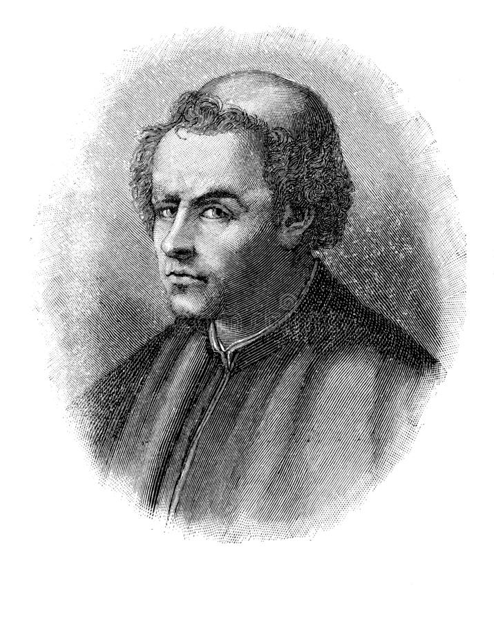 Retrato do poeta italiano de Burchiello ilustração do vetor