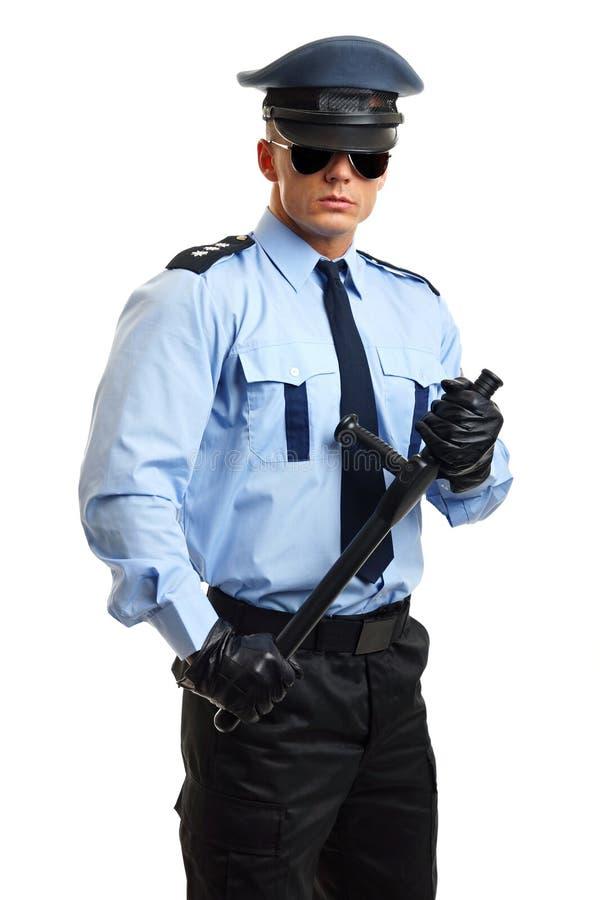 Retrato do polícia de sorriso foto de stock
