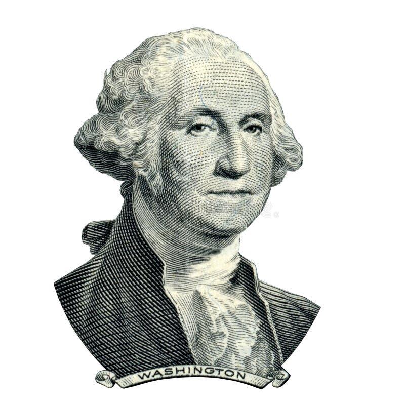 Retrato do presidente Washington George fotografia de stock