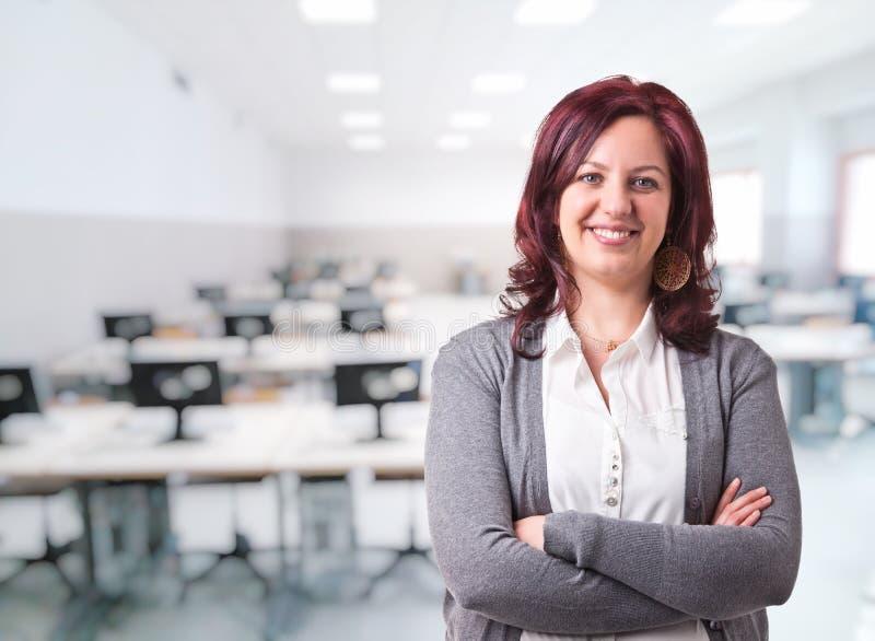 Retrato do professor da mulher fotos de stock
