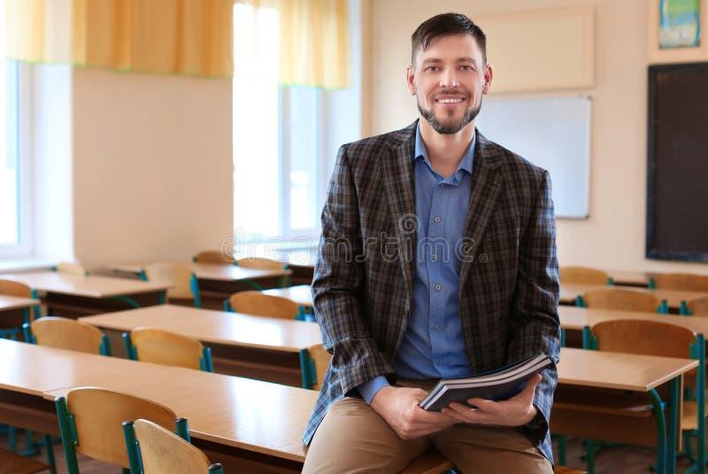 Retrato do professor feliz fotografia de stock