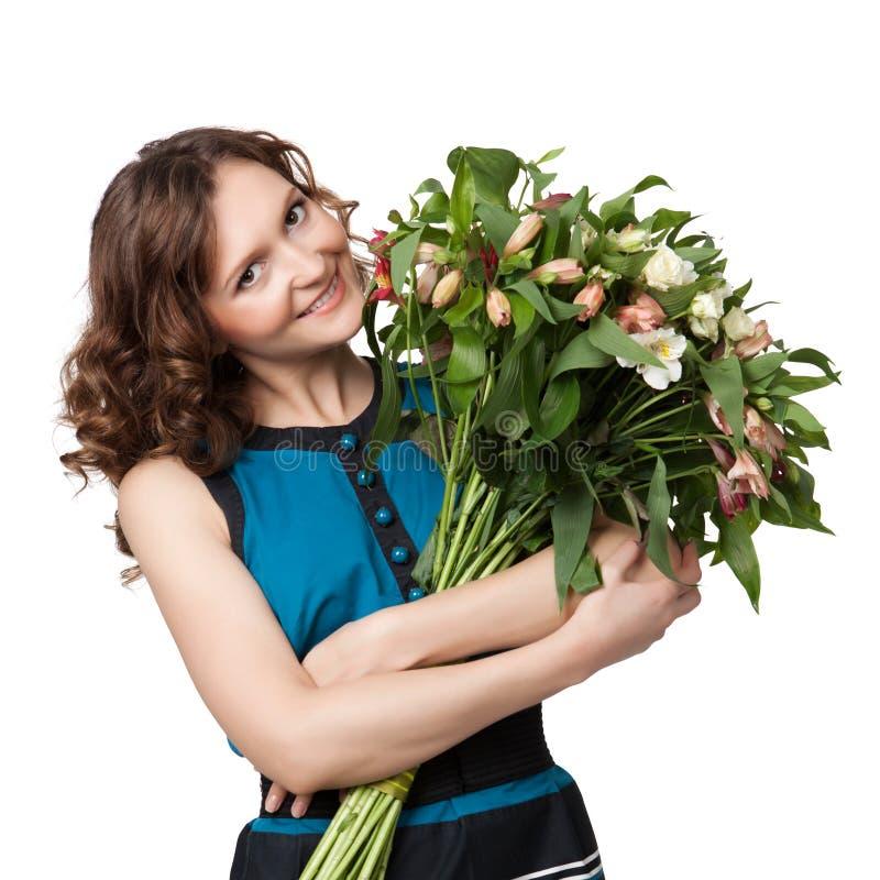 Retrato do ramalhete guardarando triguenho bonito das flores imagem de stock