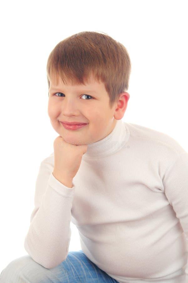 Download Retrato do rapaz pequeno foto de stock. Imagem de criança - 12808288