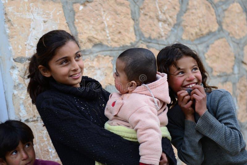 Retrato do refugiado das crianças imagem de stock royalty free