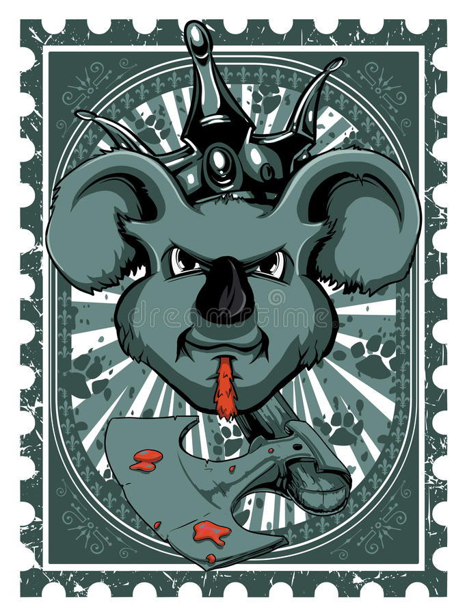 Rato do rei ilustração do vetor