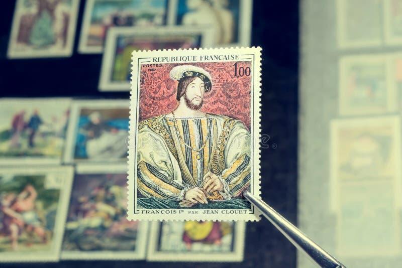 Retrato do rei Francis imagens de stock
