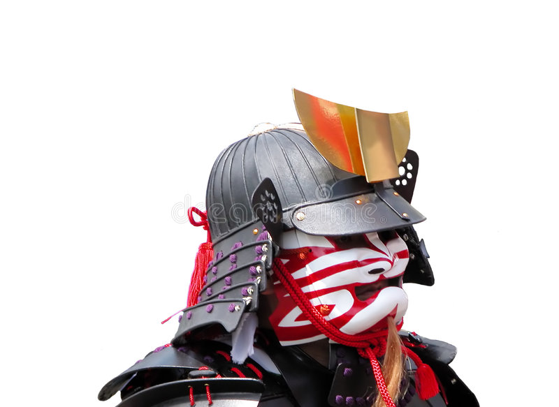 Retrato do samurai fotografia de stock