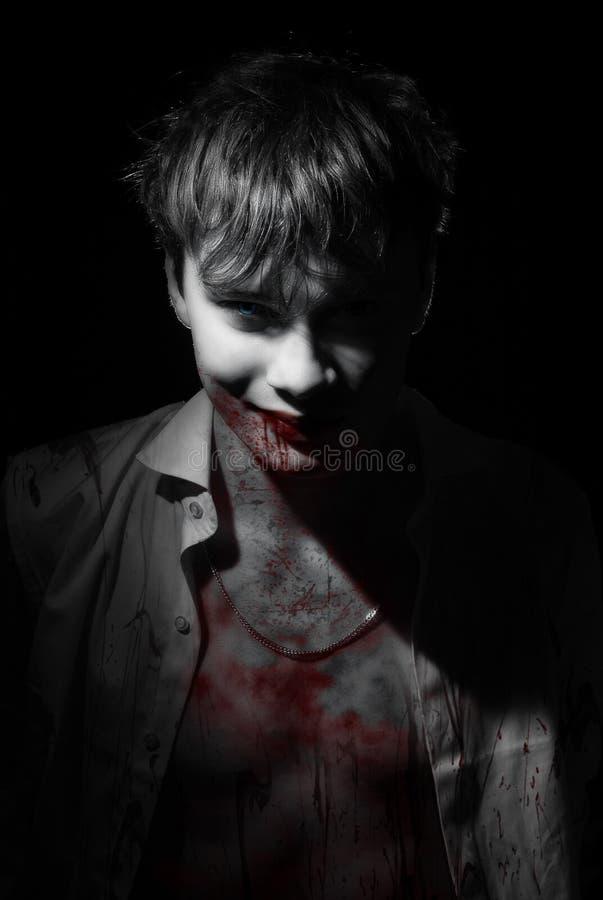Retrato do sangue do vampiro fotos de stock royalty free
