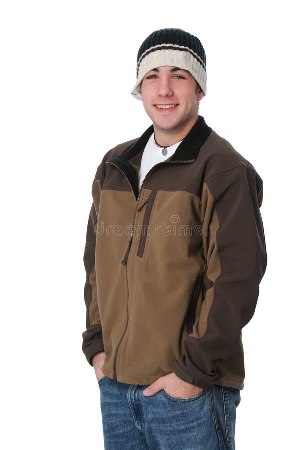 Retrato do sorriso adolescente do menino imagens de stock royalty free