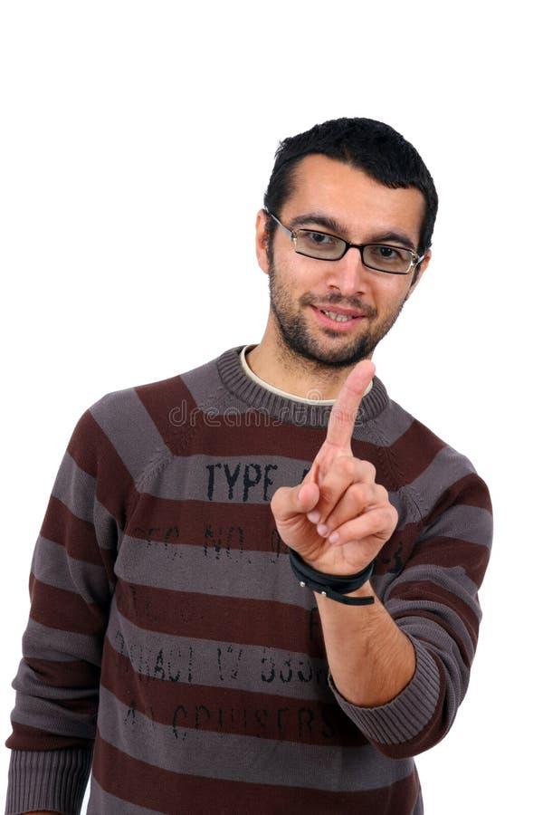 Retrato do sorriso do homem novo imagens de stock