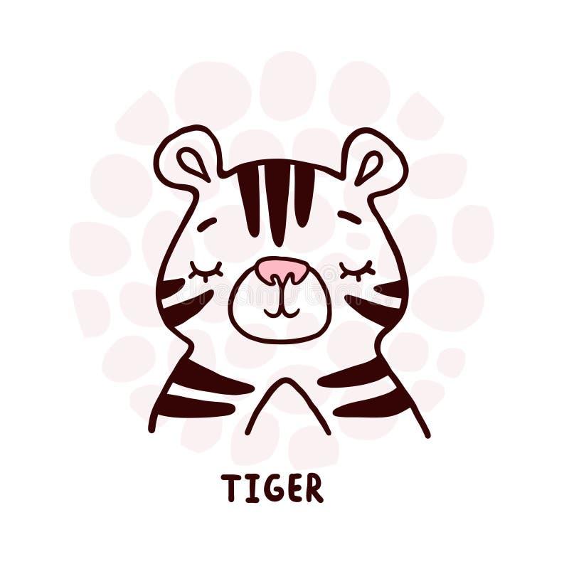 Retrato do Tigre-Grito ilustração stock