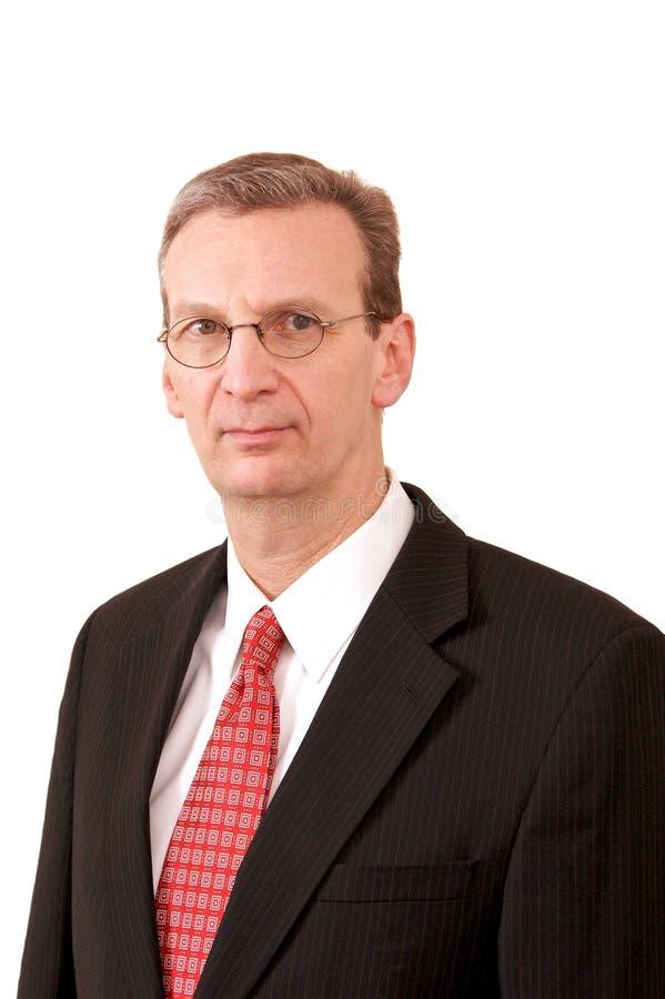 Retrato do tipo executivo homem branco fotografia de stock royalty free
