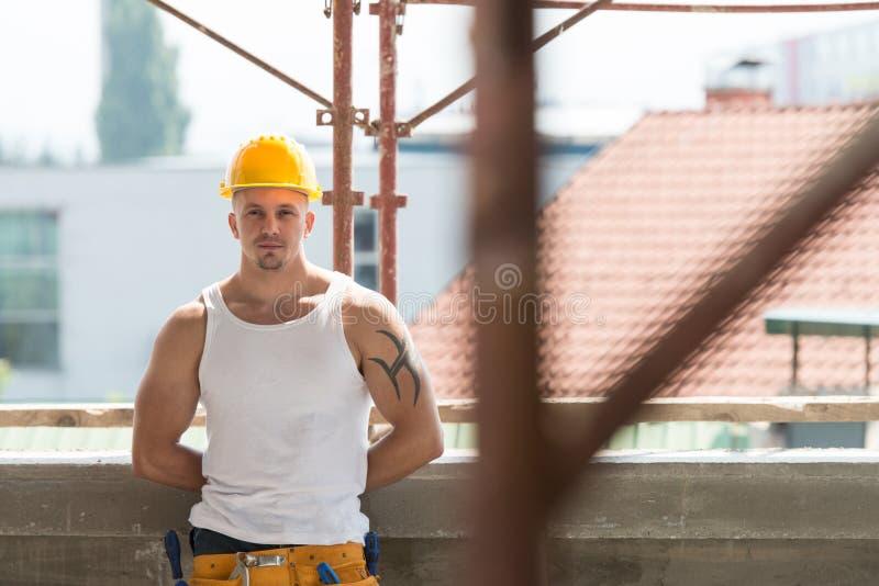 Retrato do trabalhador considerável imagens de stock royalty free