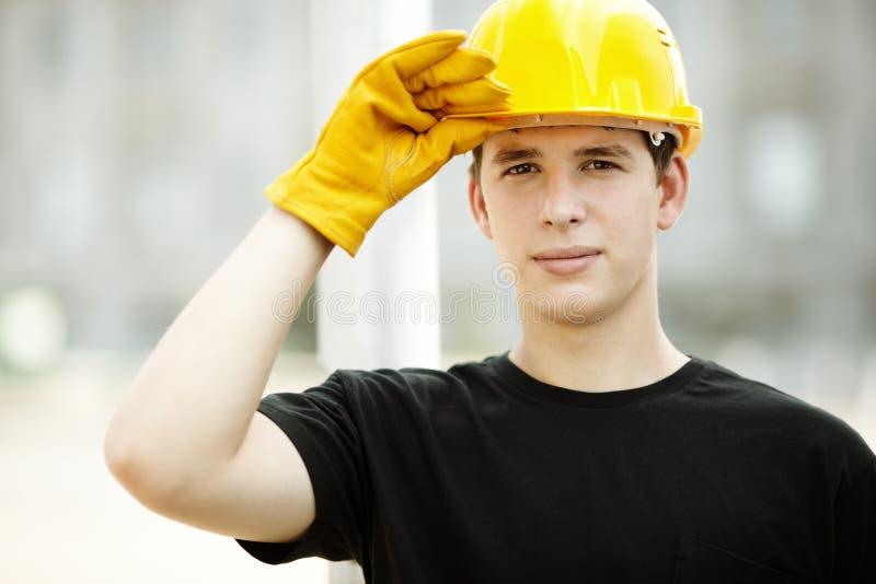 Retrato do trabalhador da construção imagens de stock