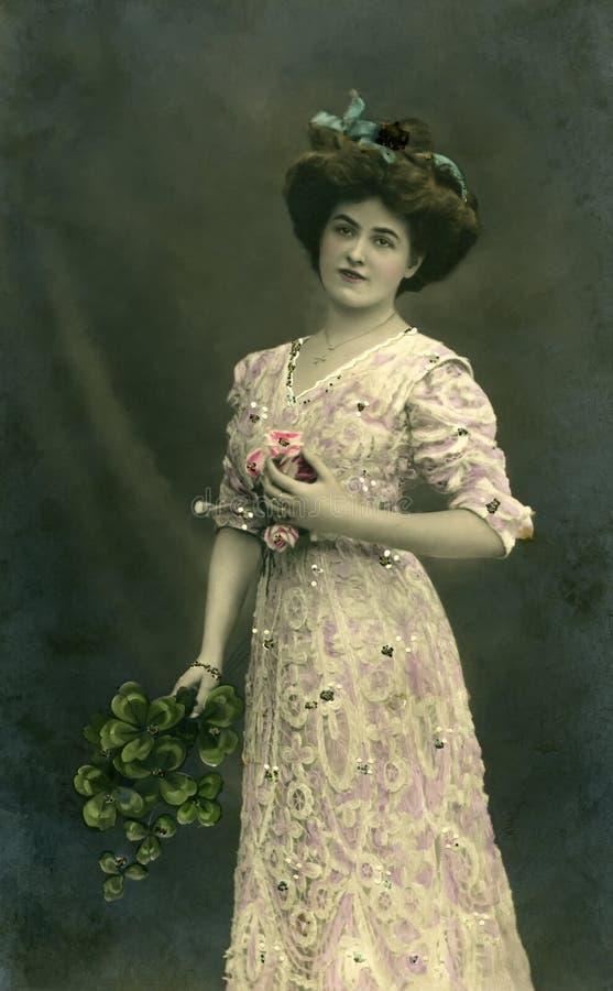 Retrato do vintage. foto de stock