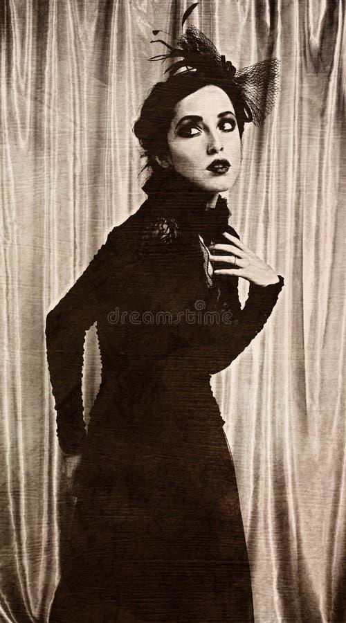 Retrato do vintage fotografia de stock royalty free