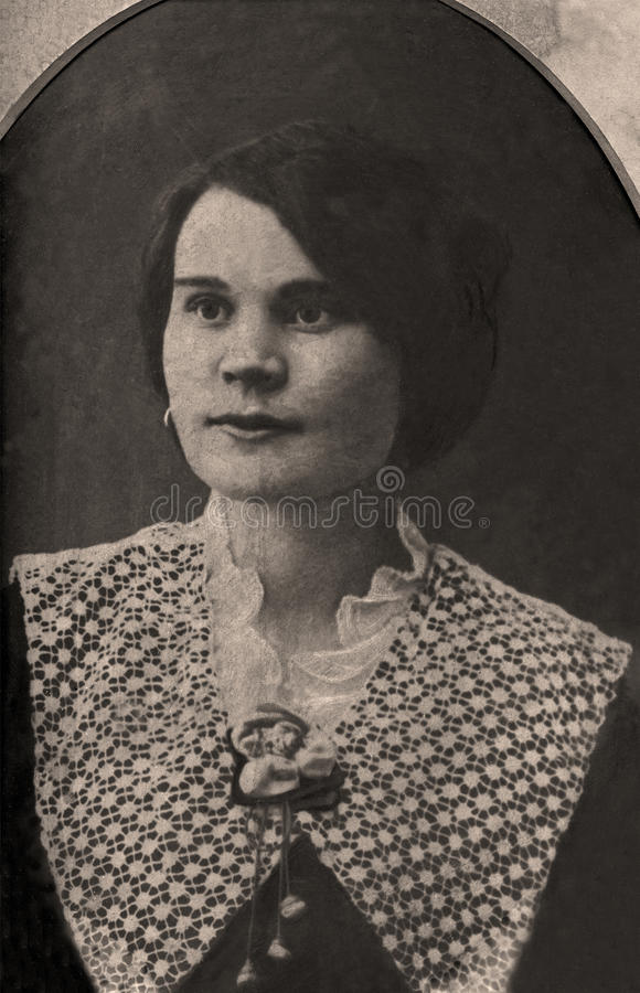 Retrato do vintage imagens de stock